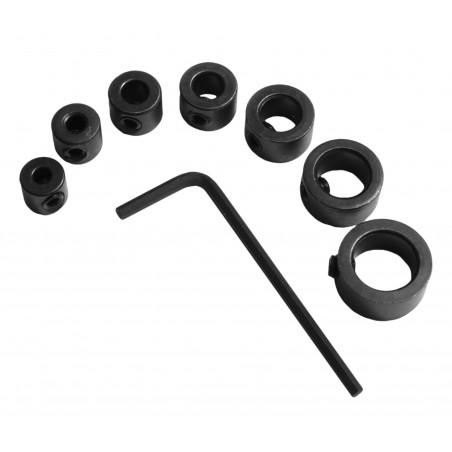 Drill bit stop collars set (7 pcs)