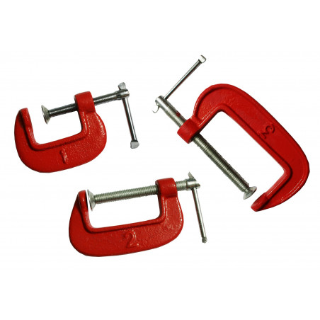 C-clamps set small (1, 2, 3 inch)