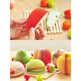Memo pad divertenti, foglietti adesivi (frutta, 9 set)