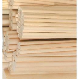 Lot de 100 bâtons en bois (20 cm de long, 9,5 mm de diamètre