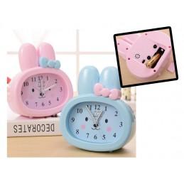 Sale: set of 10 blue bunny kids clocks for boys, with alarm