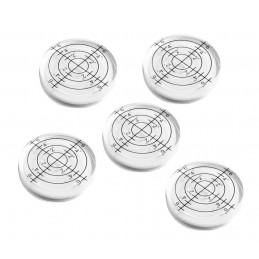 5 pieces round bubble level tool 32x7 mm white  - 1