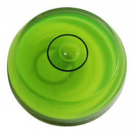 Mini round bubble level tool green