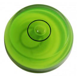 Zestaw 10 okrągłych poziomów pęcherzyków (zielony, fazowany)  - 1