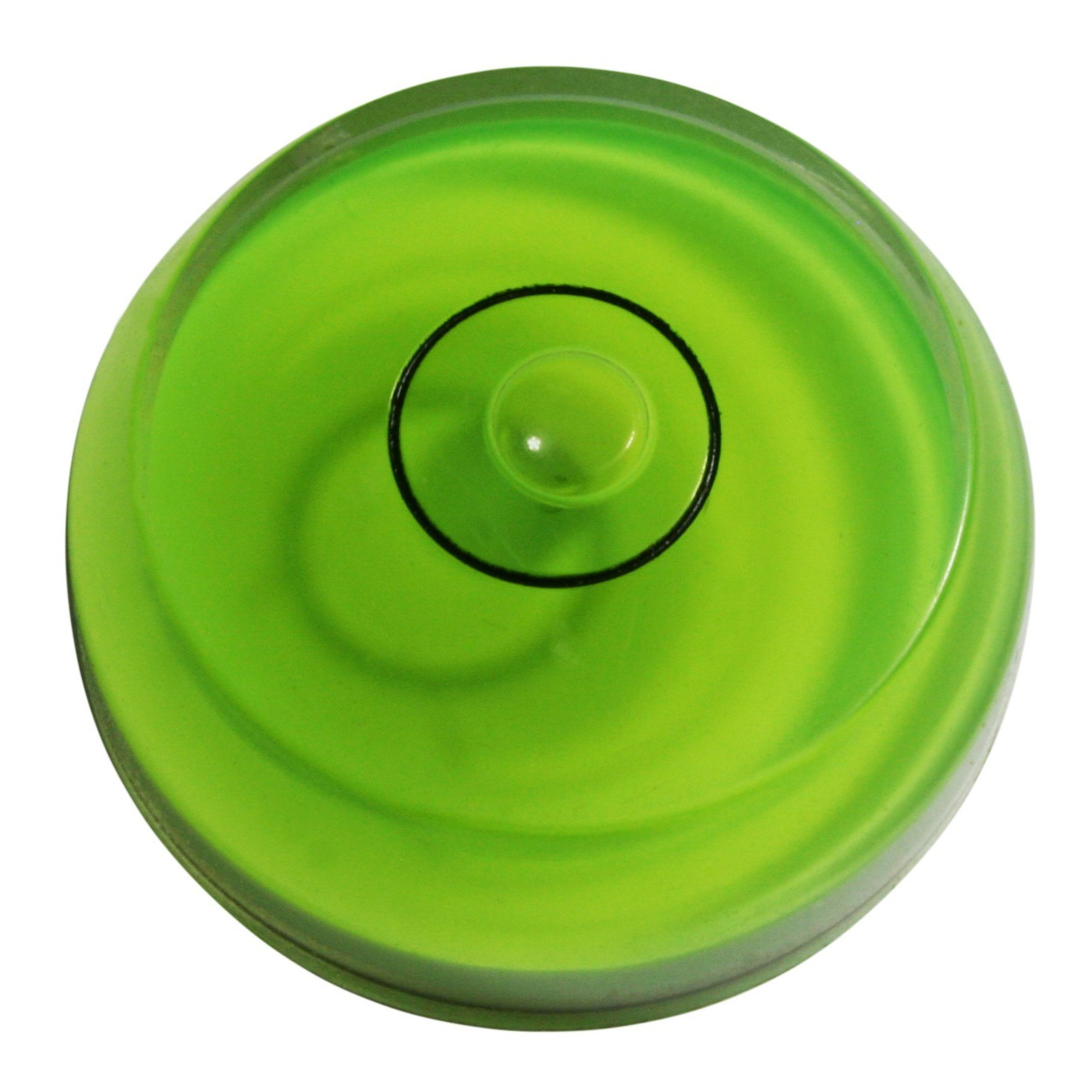 Set of 10 round bubble levels (green, chamfered)  - 1