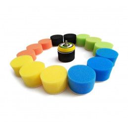 Polishing set (50 mm, mini sponges) with adapter  - 1
