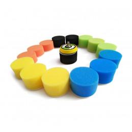Set kleine sponzen (50 mm) voor schoonmaak, met adapter  - 1