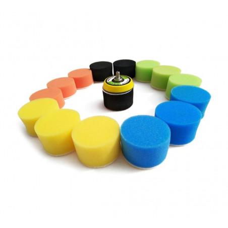 Set kleine sponzen (50 mm) voor schoonmaak, met adapter