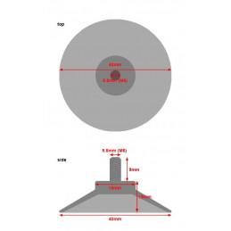 Zestaw 40 gumowych przyssawek z prętem M6 (średnica 40 mm)  - 2