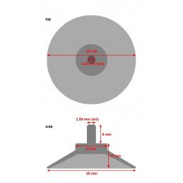 Zestaw 40 gumowych przyssawek z prętem M3 (średnica 25 mm)  - 2