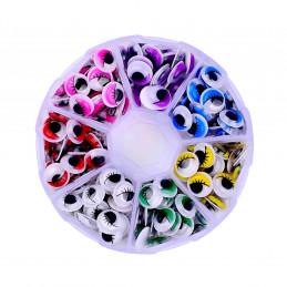 Wiggle Eyes avec des cils, des objets de décoration, 840 pcs