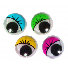 Wiggle eyes with eyelashes, decoration items, 840 pcs  - 1