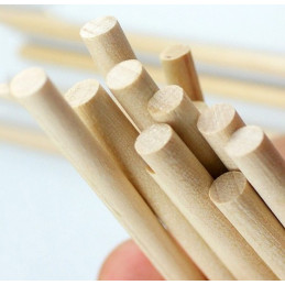Set of 400 wooden sticks (11 cm long, 5 mm dia, birch wood)