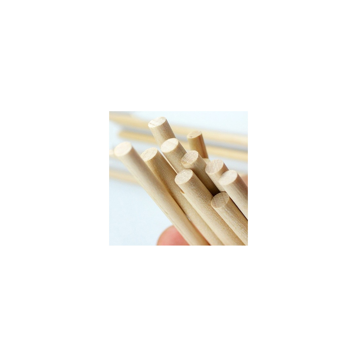 Juego de 400 palos de madera (11 cm de largo, 5 mm de diámetro, madera de abedul)  - 1
