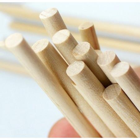 Set di 400 bastoncini di legno (11 cm di lunghezza, 5 mm di