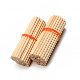 Set of 400 wooden sticks (11 cm long, 5 mm dia, birch wood)  - 2