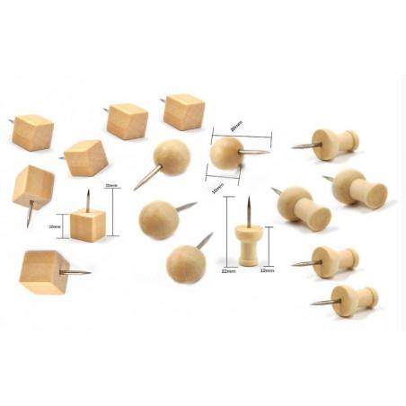 Punaises en bois dans le sac (3 types, 270 pièces)