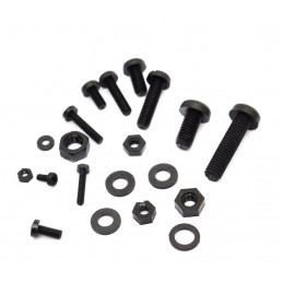 Set of 300 nylon bolts, nuts and washers (white and black)