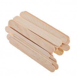 Conjunto de 500 palos de madera (madera de abedul), 150x17x1.7 mm  - 1