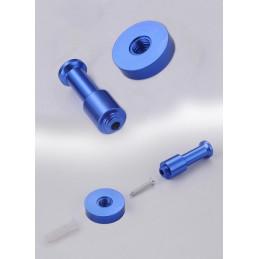 Conjunto de 10 cabides de metal, suportes de parede, azul claro  - 4