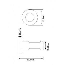 Zestaw 10 metalowych wieszaków na ubrania, uchwytów ściennych, srebrny  - 5