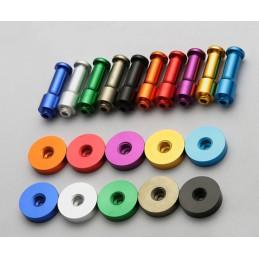 Juego de 10 ganchos metálicos para ropa, soportes de pared, naranja  - 6
