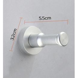 Juego de 10 ganchos metálicos para ropa, soportes de pared, naranja  - 7