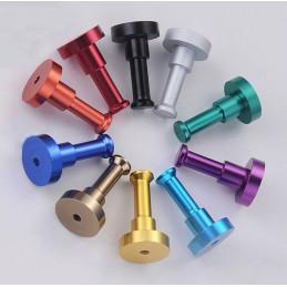 Conjunto de 10 ganchos de metal, soportes de pared, oro  - 3
