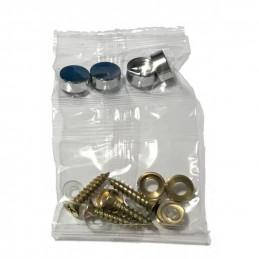 Zestaw 24 metalowych ozdobnych nakładek, srebrny 11,5x5,0 mm  - 4