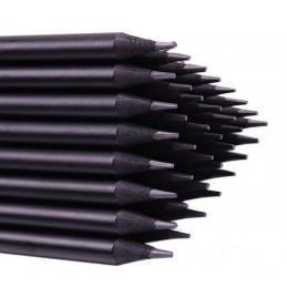 Zestaw 40 czarnych drewnianych ołówków z diamentem  - 3
