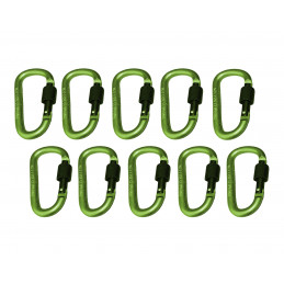 Set of 10 carabiners, color 6: light green, 100 kg  - 1