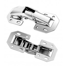 Set of 16 cabinet hinges metal (size 2: 115 mm)