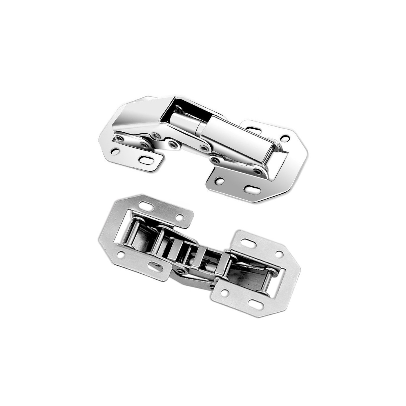 Conjunto de 16 dobradiças metálicas (tamanho 2: 115 mm)  - 1