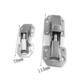 Set of 16 cabinet hinges metal (size 2: 115 mm)
