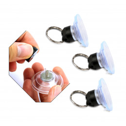 Zestaw 30 przyssawek 40 mm (przykręcanych pierścieniem, na