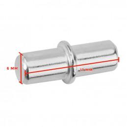 Conjunto de suportes para prateleiras (150 peças), pinos de metal, 6x17 mm  - 1