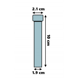 Set van 100 plastic reageerbuisjes (10 ml, polystyreen, met schroefdop)  - 2