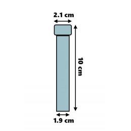 Set von 100 Reagenzgläsern aus Kunststoff (10 ml, Polystyrol