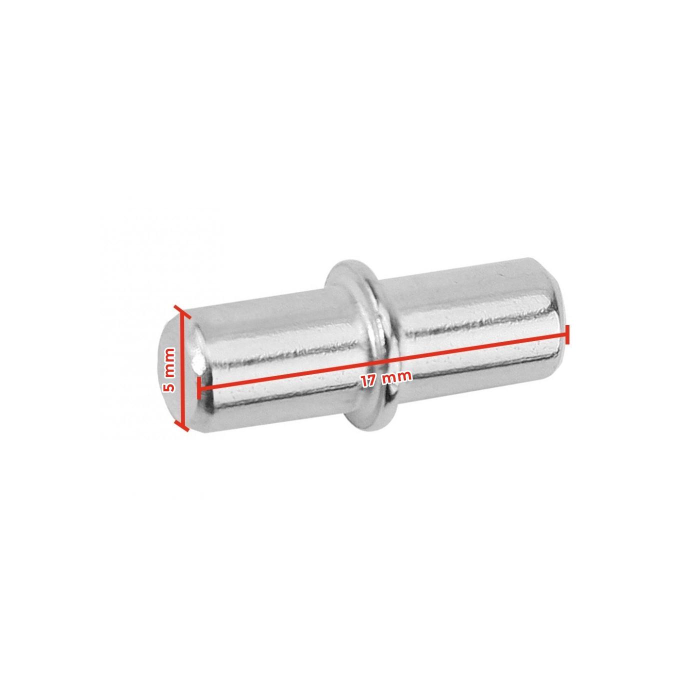 Conjunto de suportes para prateleiras (150 peças), pinos de metal, 5x17 mm  - 1