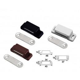 Conjunto de 32 cierres de gabinete magnéticos marrones de presionar para abrir  - 1