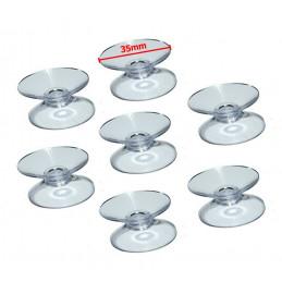 Set van 60 rubber zuignapjes (35 mm) dubbelzijdig