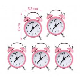 Conjunto de 5 despertadores engraçados (rosa bebê, bateria)  - 2