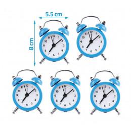 Conjunto de 5 divertidos despertadores (azul bebé, batería)  - 2