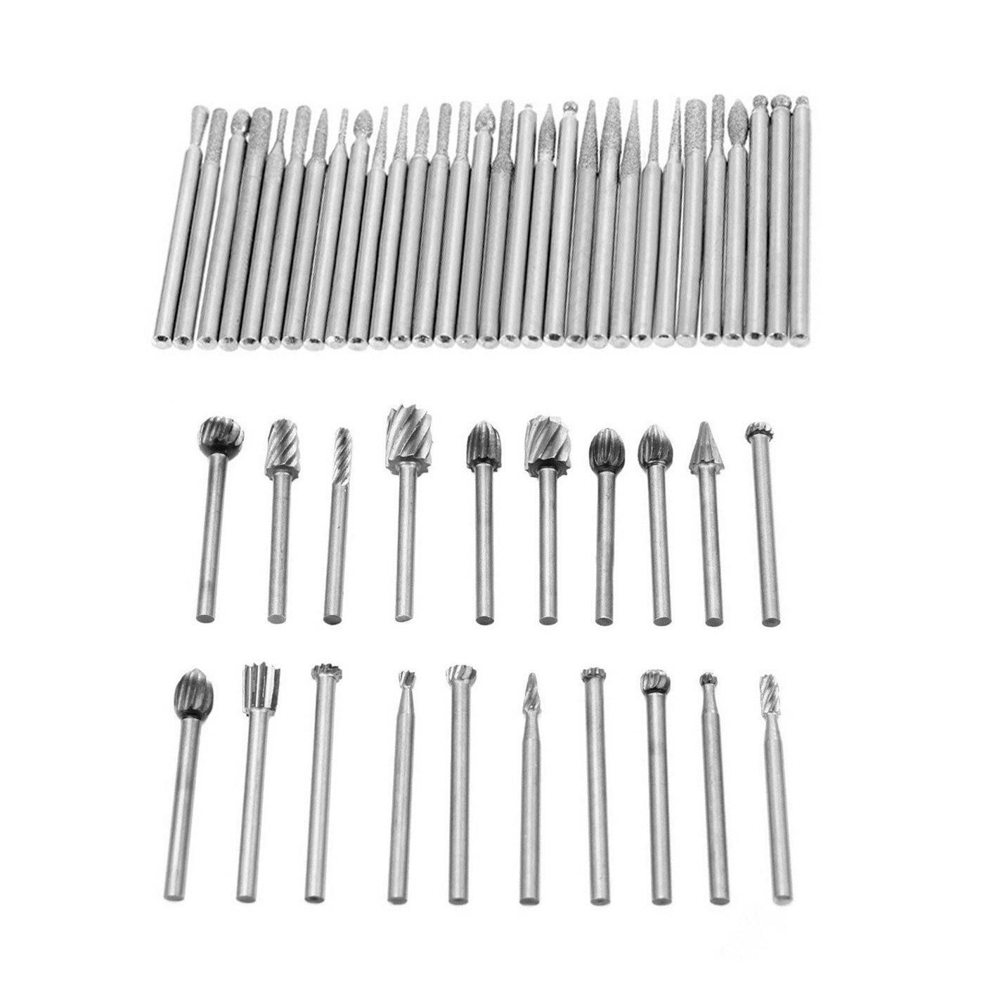 Set of 50 pcs micro (dremel) milling cutters/burrs  - 1