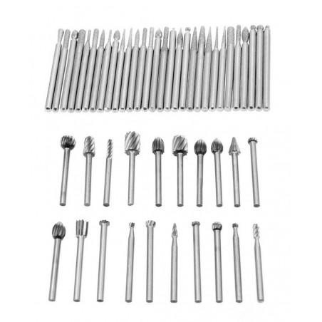 Set of 50 pcs micro (dremel) milling cutters/burrs