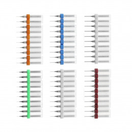Conjunto de 10 micro brocas em caixa (0,35 mm)  - 1