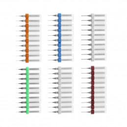 Set di 10 micro punte da trapano in scatola (0,45 mm)