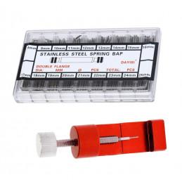 Pinos para pulseira de relógio de 1,5 mm (250 peças) com ferramenta gratuita para remover pinos  - 1