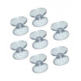 Set van 100 rubber zuignapjes (20 mm) dubbelzijdig