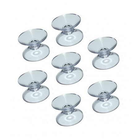 Set of 100 rubber suction cups double (20 mm)